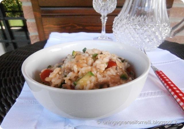 risotto riso zucchine pomodorini vongole timo