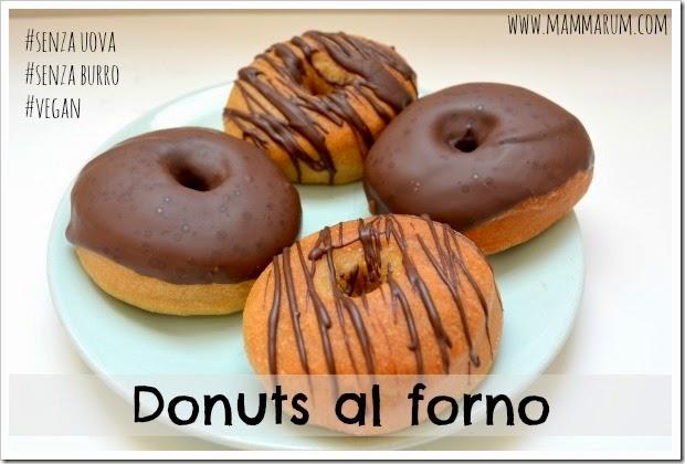 ricetta donuts vegan al forno