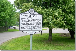 Daniel Boone marker, west of Charleston, WV in the Daniel Boone Park