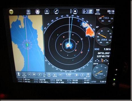 radar between samal island and ternate