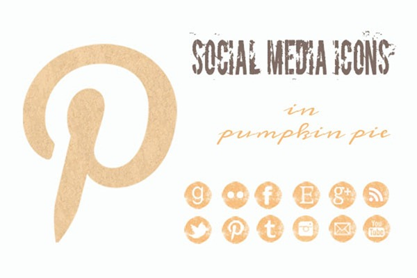 free pumpkin pastel social icons