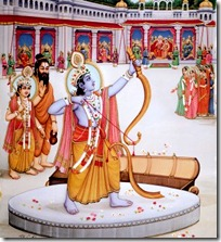 Shri Rama lifting the bow