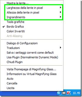 Opzioni Virtual Magnifying Glass Portable