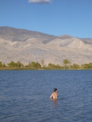 Swimming in Lone Pine, CA