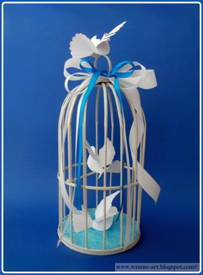 Bird Cage Made of Newspaper