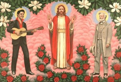 Elvis Presley, Jesus Christ e Robert E Lee