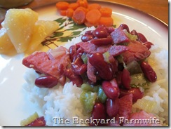 WWII red beans & ham - The Backyard Farmwife