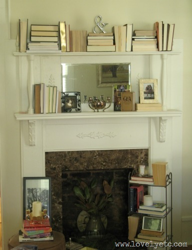 music room fireplace