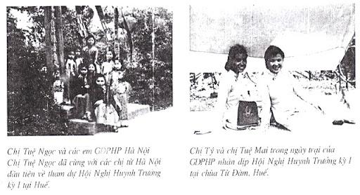 Chị Tuệ Ngọc, Tuệ Mai, chị Tý GĐPT Bắc Việt - Hội Nghị HT kỳ 1 - Từ Đàm 1951