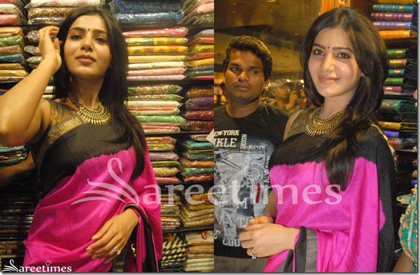 Samantha_Pink_Plain_Saree(1)