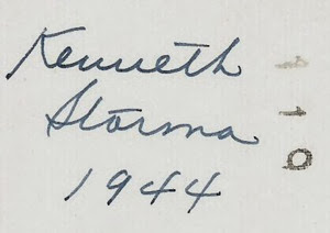 Kenneth Storma 1944 DL Antiques back