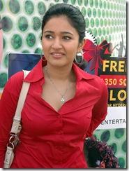 poonam-bajwa in red dress