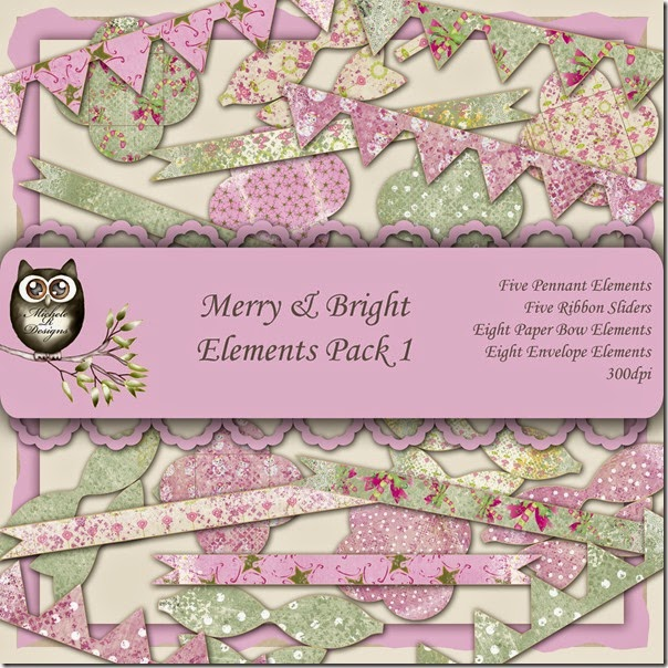 Merry & Bright Elements Front Sheet Pack 1