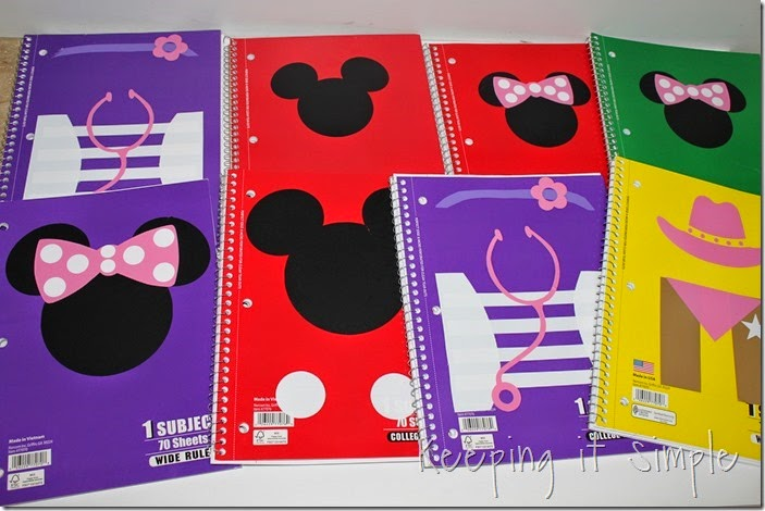 Disney themed notebooks (10)