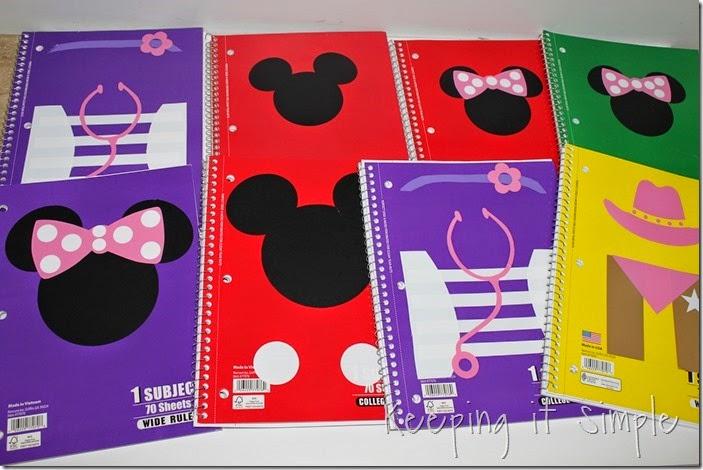 Disney themed notebooks (10)