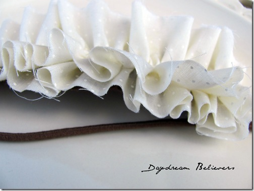 Ruffle headband by daydream believers