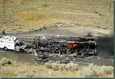 Motorhome Burns in 13 minutes