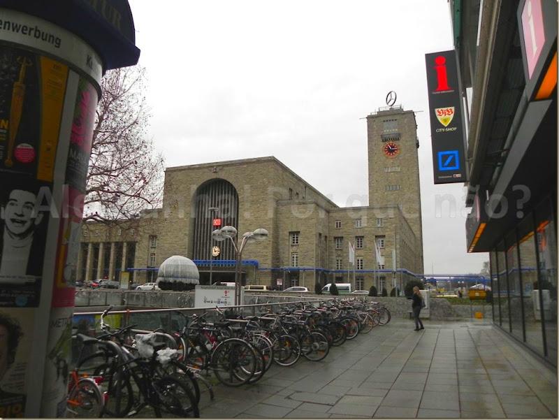 A linda estação central de Stuttgart