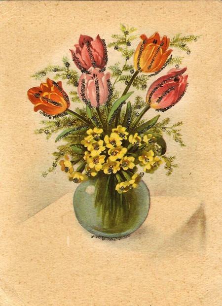 Немецкая открытка 1957 год