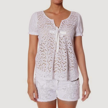 #640 All in blouse white