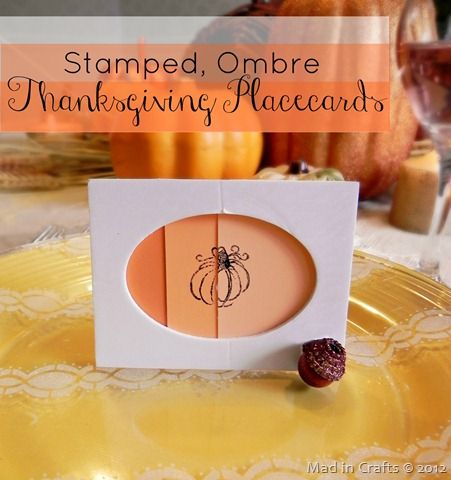 stamped ombre thanksgiving placecard