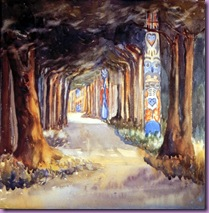 carr totem walk at sitka  1907