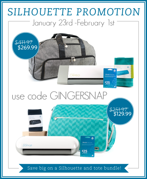 Silhouette Tote Promotion #Silhouette GingerSnapCrafts.com #affiliate