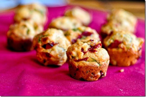 basil feta pepper muffins-