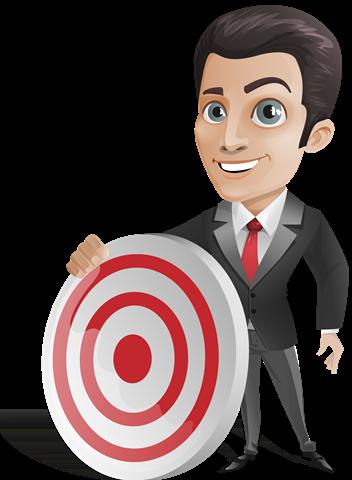 Businessman Holding_a_Target