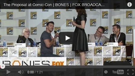 bones proposal comic con 2013 panel