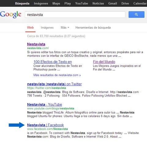 resultados de nestavista en google