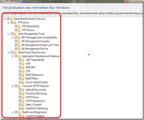 Aktivasi Iis 7 pada windows 7