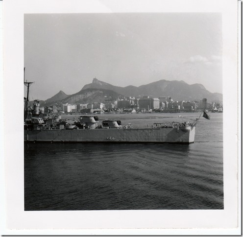 49 -  July 9, 1952 Rio de Janeiro, Brazil - View from the S.S. Brazil Photoshop Color Adjusted