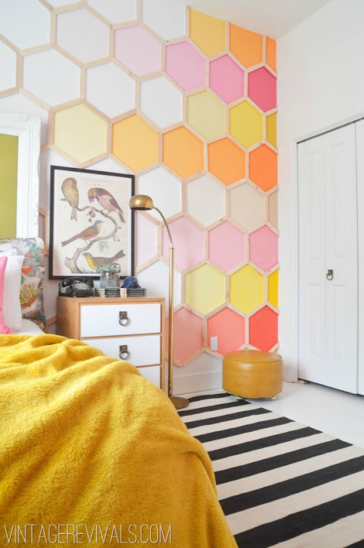 Citrus Rainbow Hexagon Wall @ Vintage Revivals