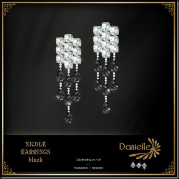 DANIELLE Nicole Earrings Black'