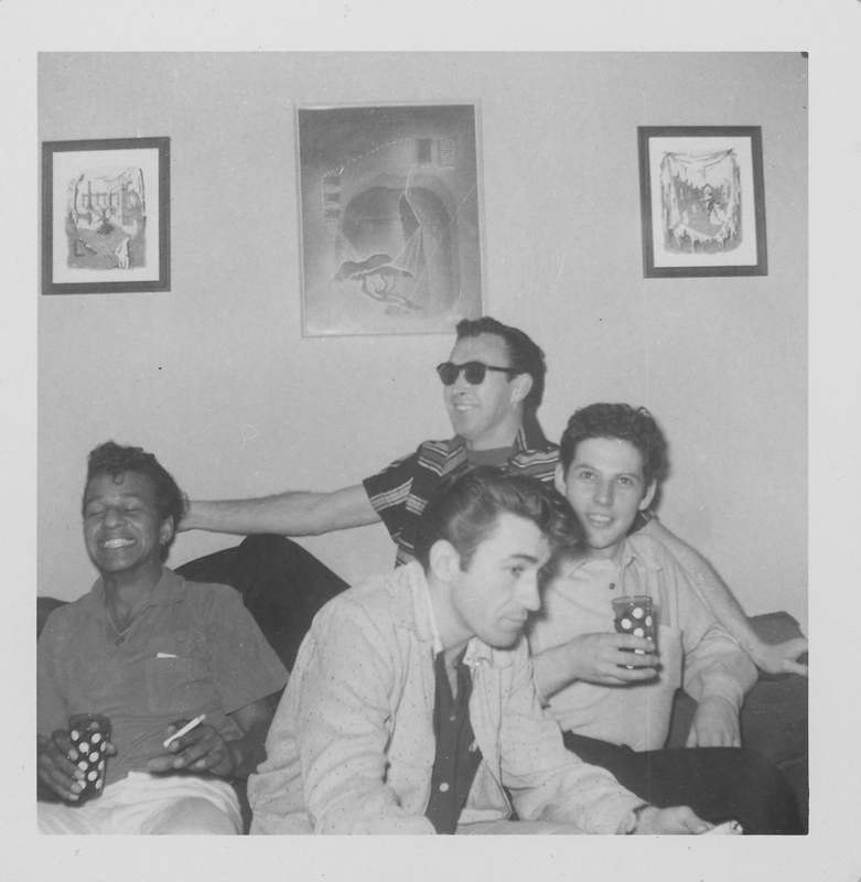 Four of Edgar Sandifer's friends at a get-together. 1960.