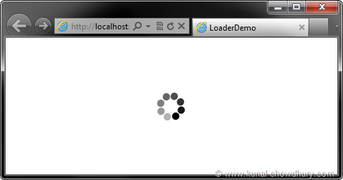 Loader Demo - Showing Demo of the Loader Control after Resize