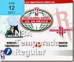 NBA Mexico Rockets vs Timberwolves Arena Ciudad de Mexico 2014 Superboletos
