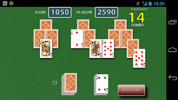 Screenshot of Tri Peaks Solitaire