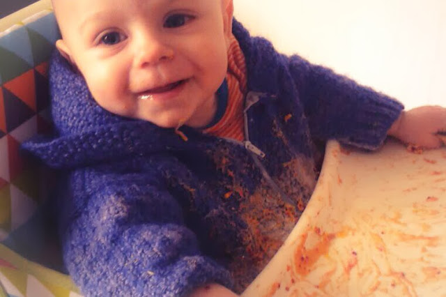 Messy Play with babies finger paint