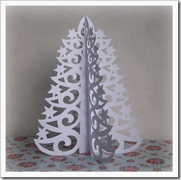 filigran karácsonyfa