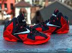 nike lebron 11 gr black red 8 08 New Photos // Nike LeBron XI Miami Heat (616175 001)