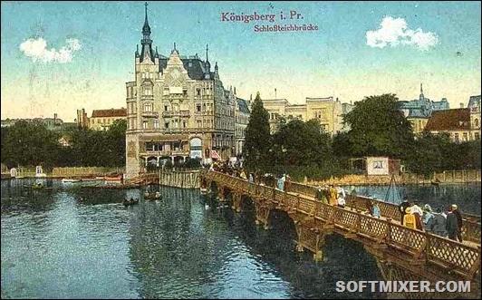 800px-Schlossteichbrücke_Königsberg