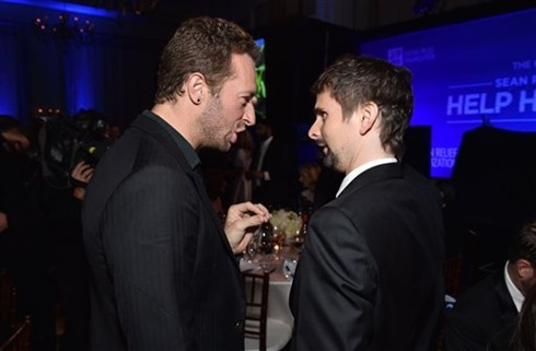 Help Haiti Home Gala Chris Martin Matt Bellamy