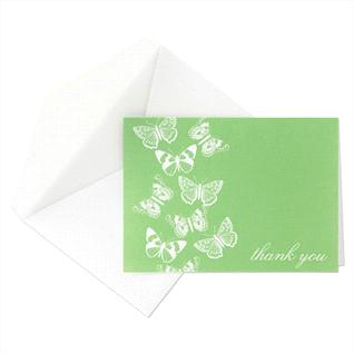 This Martha Stewart Butterfly thank-you card would be perfect to use in the spring time.