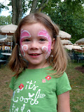 The girl loves face paint; at the Burke Centre Festival. (September)