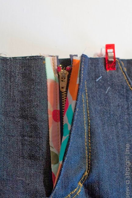 zipper fly jeans sew along sew a straight line-37