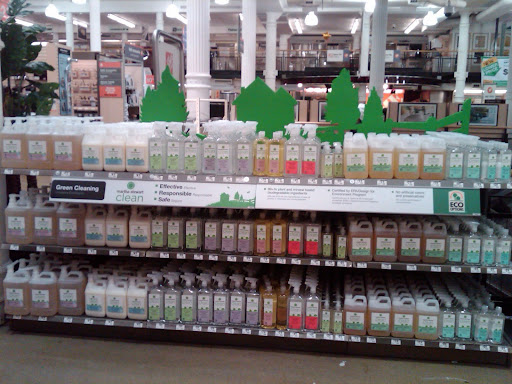 The display of Martha Stewart Clean products at the 23rd St. Home Depot store in Manhattan.  Looks good and definitely gets me in the mood to clean.