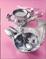 Two Handled Bunny Cup $39.00 Bunny Porringer set $54.00