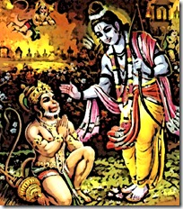 Rama meeting Hanuman